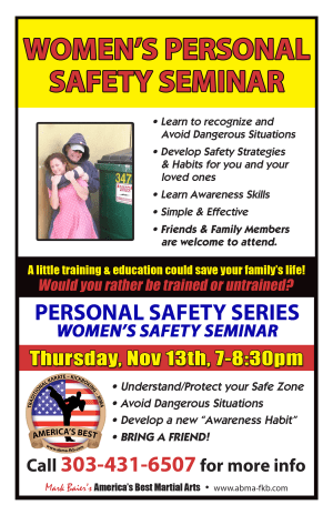 Kids Martial Arts in Arvada - America's Best Martial Arts - FREE WOMENS PERSONAL SAFETY SEMINAR