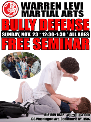 in Five Towns - Warren Levi Martial Arts & Fitness - Bully Prevention Seminar