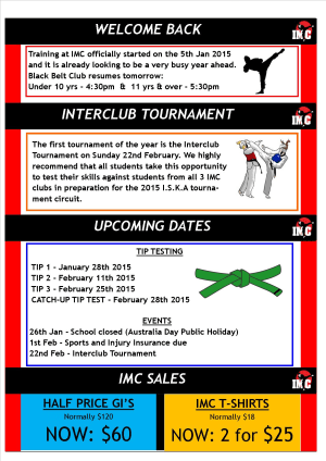 Kids Martial Arts  in St Clair, Kemps Creek & Hoxton Park - International Martial Arts Centres - IMC News 8th January 2015