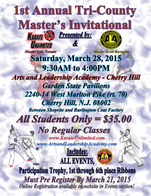 Kids Martial Arts in Cherry Hill - Arts and Leadership Academy - 1st Annual Tri County Masters Invitational