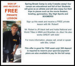 Kids Martial Arts in Escondido - East West MMA SoCal - Spring Break Camp at East West MMA Escondido