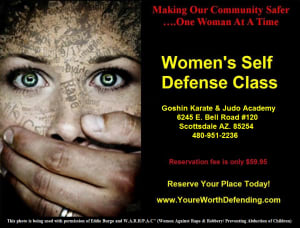 Kids Karate in Scottsdale - Goshin Karate & Judo Academy - Womens Self Defense Class - Scottsdale - March 28th