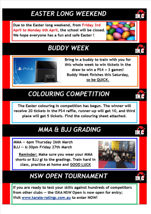 Kids Martial Arts  in St Clair, Kemps Creek & Hoxton Park - International Martial Arts Centres - IMC News 17th March 2015