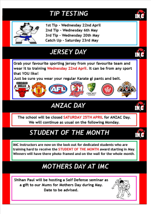 Kids Martial Arts  in St Clair, Kemps Creek & Hoxton Park - International Martial Arts Centres - IMC News 16th April 2015