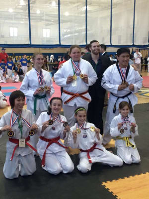 Franklin Martial Arts Taekwondo Students Win Medals at TKD Tournament - Bellingham MA