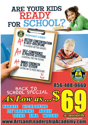 Kids Martial Arts in Cherry Hill - Arts and Leadership Academy - Back to School Deals