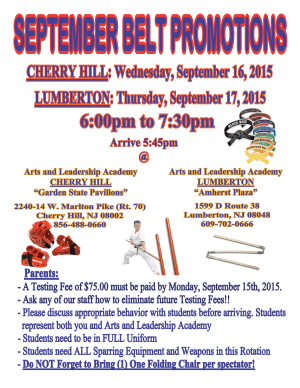 Kids Martial Arts in Cherry Hill - Arts and Leadership Academy - FALL BELT EXAMS