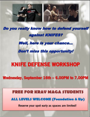 Knife Defense Seminar