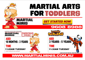 Kids Karate in Prestons and Liverpool - IMC Liverpool - Martial Minis Parent and Toddler Class