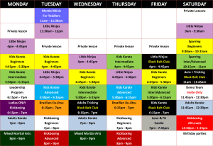 Kids Karate in Prestons and Liverpool - IMC Liverpool - New Timetable