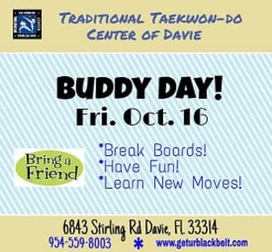 Kids Martial Arts in Davie and Cooper City - Traditional Taekwon-Do Center Of Davie - Buddy Day!