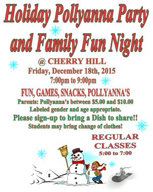 Kids Martial Arts in Cherry Hill - Arts and Leadership Academy - HOLIDAY POLLYANNA PARTY AND FAMILY FUN NIGHT