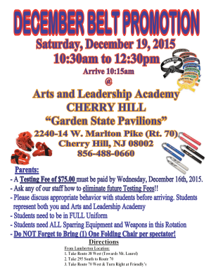 Kids Martial Arts in Cherry Hill - Arts and Leadership Academy - BELT PROMOTION AND BLACK BELT TEST