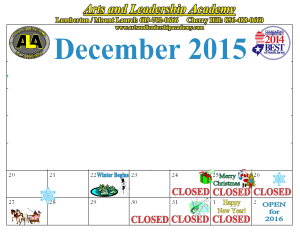 Kids Martial Arts in Cherry Hill - Arts and Leadership Academy - HOLIDAY CLOSING