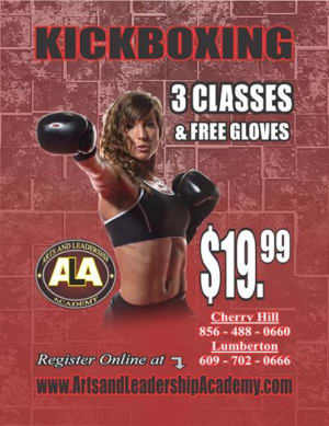 Kids Martial Arts in Cherry Hill - Arts and Leadership Academy - New Years KICKBOXING DEAL