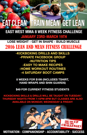 Kids Martial Arts in Escondido - East West MMA SoCal - Get Lean and Mean in 2016