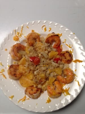 Personal Training in Concord - Individual Fitness - Orange Shrimp Cauliflower Stir Fry