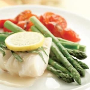 Personal Training in Concord - Individual Fitness - Poached Cod & Asparagus