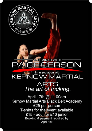 in St. Austell - Kernow Martial Arts - Paige Cerson Workshop