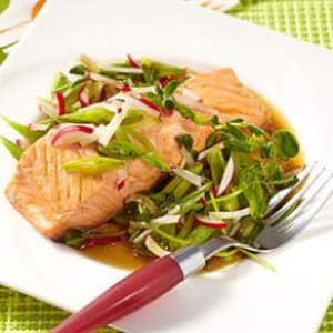 Personal Training in Concord - Individual Fitness - Mirin-Poached Salmon with Spring Salad