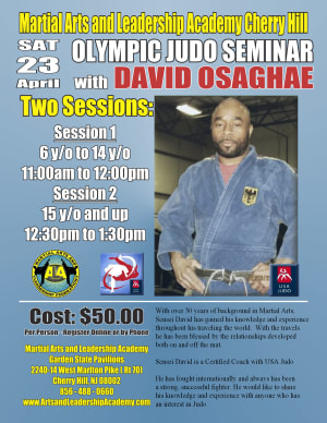 Kids Martial Arts in Cherry Hill - Arts and Leadership Academy - JUDO SEMINAR