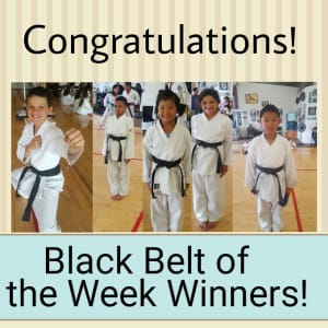 Black Belt of the Week Winners!