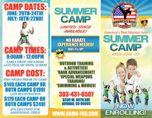 SUMMER CAMPS REGISTERING NOW