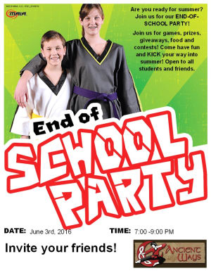 Kids Martial Arts in Bradenton - Ancient Ways Martial Arts Academy - End of School PARTY!