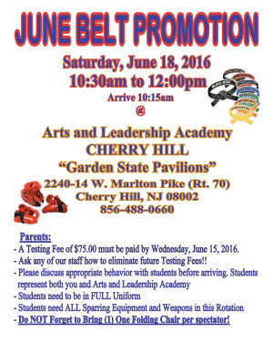 Kids Martial Arts in Cherry Hill - Arts and Leadership Academy - June Belt Promotion