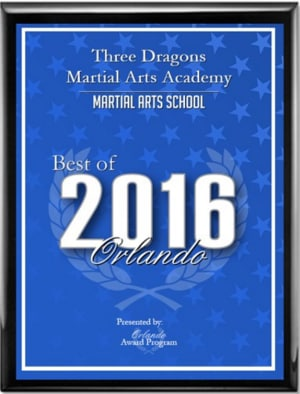 Kids Martial Arts in Orlando - Three Dragons Martial Arts Academy - Three Dragons Martial Arts Academy Receives 2016 Best of Orlando Award