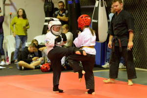 Kids Martial Arts in Helensvale - Southern Cross Martial Arts - Sparring at Southern Cross Martial Arts