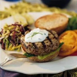 Personal Training in Concord - Individual Fitness - Turkey-Mushroom Burger with Scallion-Lemon Aioli