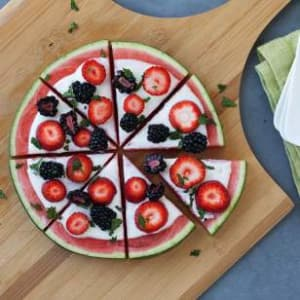 Personal Training in Concord - Individual Fitness - Healthy 4th of July desert idea - Watermelon Fruit Pizza