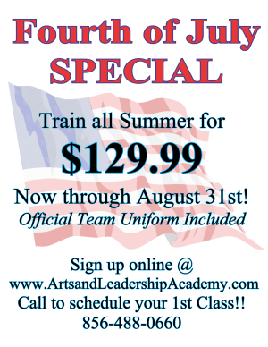 Kids Martial Arts in Cherry Hill - Arts and Leadership Academy - Fourth of July Spaecial
