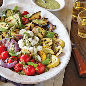 Personal Training in Concord - Individual Fitness - Grilled Vegetable Caprese with Pesto