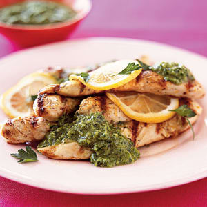 Personal Training in Concord - Individual Fitness - Grilled Lemon Chicken with fresh Parsley Sauce