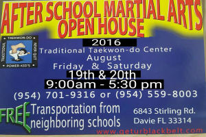 Kids Martial Arts in Davie and Cooper City - Traditional Taekwon-Do Center Of Davie - 2016- 2017 Open House!