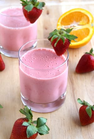 Personal Training in Concord - Individual Fitness - Strawberry Orange Smoothie