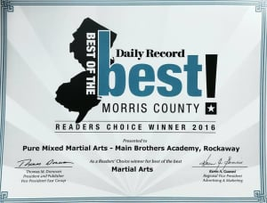 Pure MMA voted the #1 Martial Arts School in Morris County