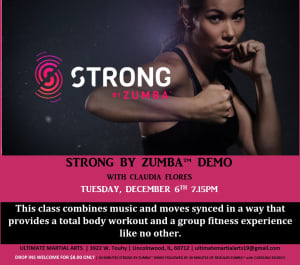 Kids Martial Arts in Chicago - Ultimate Martial Arts - Strong by Zumba Demo class