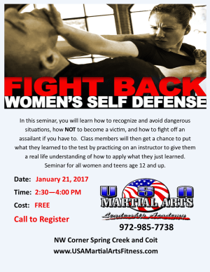 in Plano - USA Martial Arts - Why Women Need To Know Self-Defense