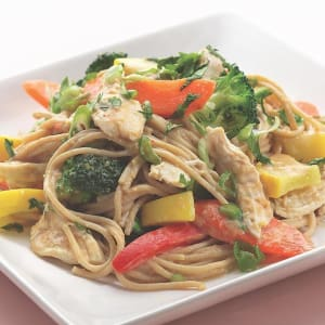 Personal Training in Concord - Individual Fitness - Peanut Noodles with Sauteed Chicken