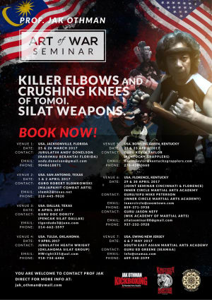 in Ewing - Southeast Asian Martial Arts Academy (SEAMAA) - Professor Jak Othman (May 6th & 7th)