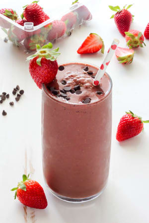 Personal Training in Concord - Individual Fitness - The Be Mine - Chocolate Covered Strawberry Smoothie