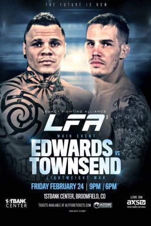 Don't miss Marcus as the LFA MAIN EVENT 2/24 at the 1stBank Center!