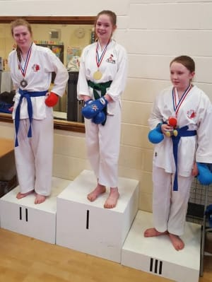 in Saffron Walden - All Anglia Karate Association - Aoife takes Gold at Seishan Open