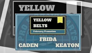 Video of New Yellow Belts: Keaton, Frida & Caden