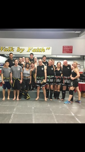 Kids Martial Arts in Boulder - Tran's Martial Arts And Fitness Center - Congrats Belt April Muay Thai and Kickboxing Promoters!