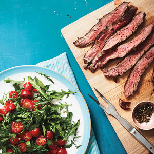 Personal Training in Concord - Individual Fitness - Flank Steak with Arugula Herb Tomato Salad