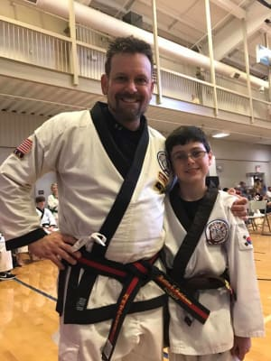 Kids Karate in Gainesville and Flowery Branch  - Rock Solid Karate - Master Hutchinson Master Demonstration